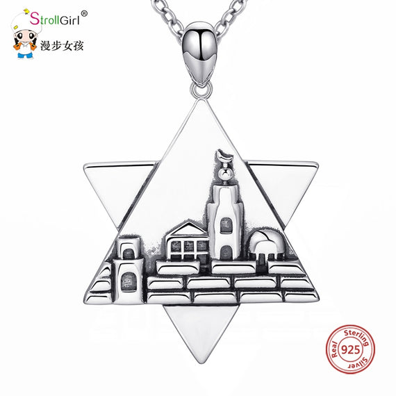 925 Sterling Silver Jerusalem Charm - Star of David With Jerusalem | Shop Latest Jewelry Accessories | Judelry.com