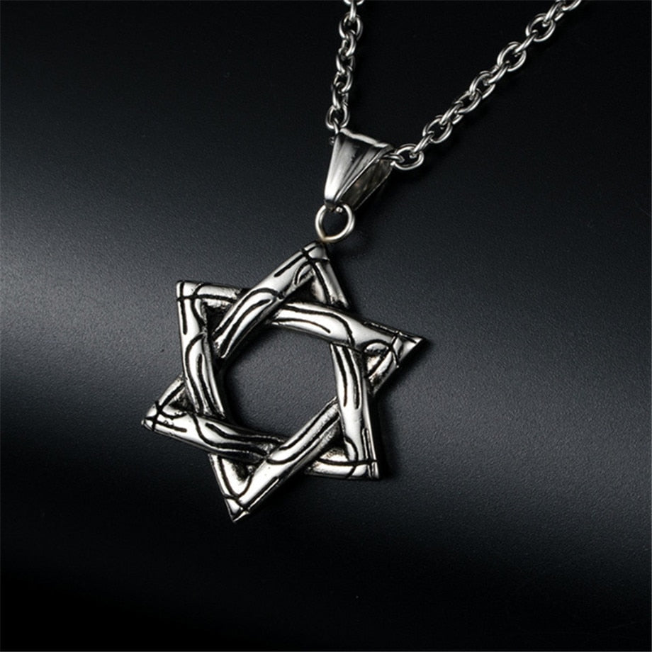 Magen Star Of David Pendant Israel Chain Necklace Women Stainless Steel Judaica Gold Silver Color Jewish Men Jewelry | Shop Latest Jewelry Accessories | Judelry.com