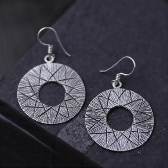 Round Earring, Silver | Shop Latest Jewelry Accessories | Judelry.com
