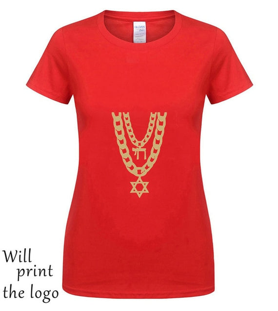 Jewish Chai Bling Chain Hanukkah Festival Of Lights Jewish Holiday Men'S T Shirt | Shop Latest Jewelry Accessories | Judelry.com