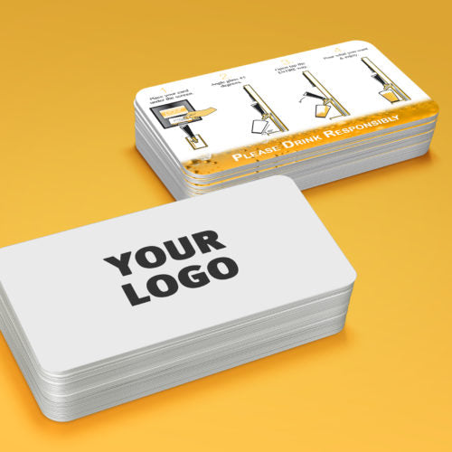 Your Logo beer card w/Pour instructions