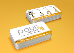 PMB branded beer card