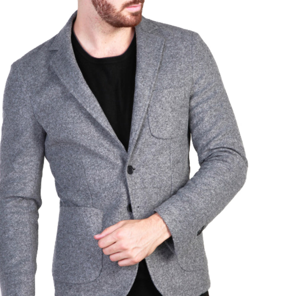RODOLFO_GRIGIO-Grey-48-Made in Italia - RODOLFO Formal jacket-Home > Women's > Clothing > Formal jacket-Made in Italia-grey-48-Faeshon.com
