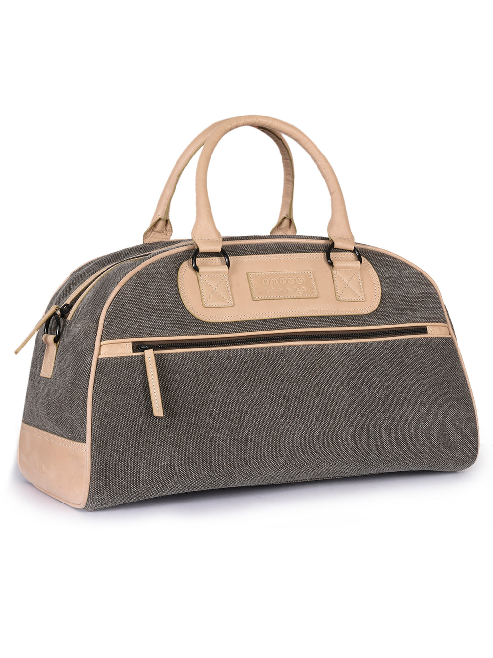 PRM637-Phive Rivers Men's Leather and Canvas Olive Green Duffle Bag-Home > Bags > Crossbody Bags-Phive Rivers-Faeshon.com