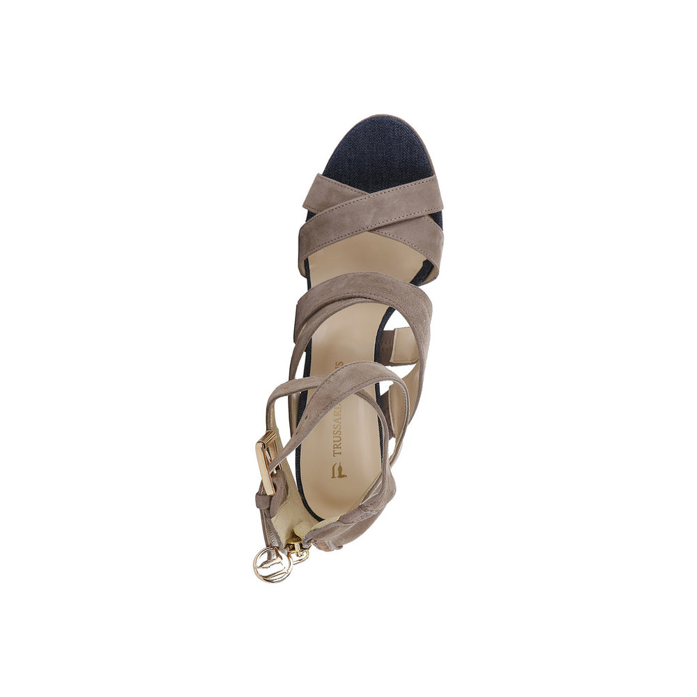 79S003_05_BEIGE-Brown-EU 41-Trussardi Sandal-Home > Shoes > Sandals-Trussardi-brown-EU 41-Faeshon.com