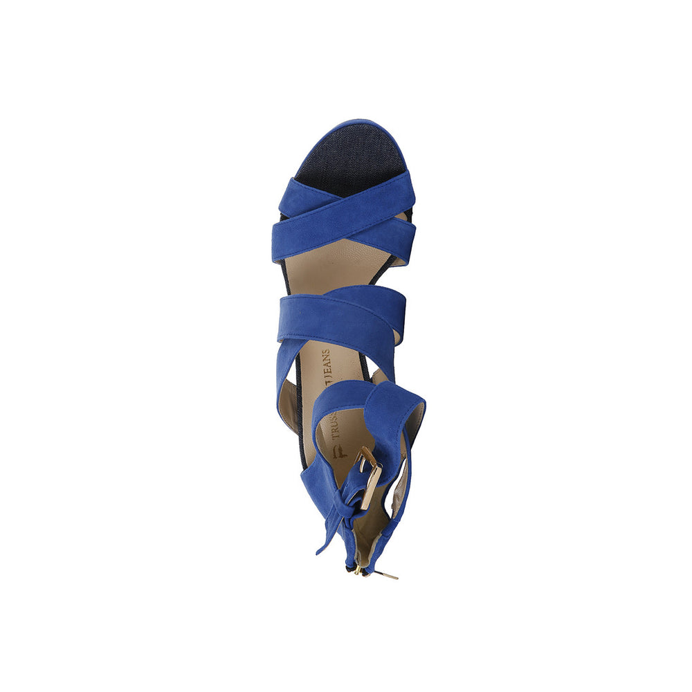 79S003_46_BLUETTE-Blue-EU 41-Trussardi Sandal-Home > Shoes > Sandals-Trussardi-blue-EU 41-Faeshon.com