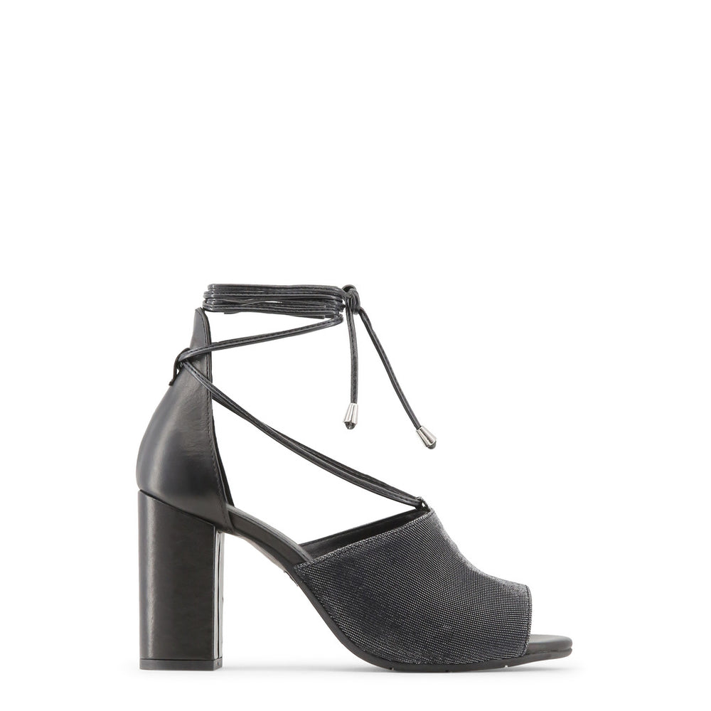 AMALIA_NERO_ARGENTO-Black-36-Made in Italia - AMALIA Sandal-Home > Shoes > Sandals-Made in Italia-black-36-Faeshon.com