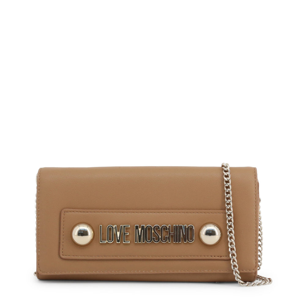 JC5607PP18LC_0201-Brown-NOSIZE-Love Moschino - JC5607PP18LC-Bags Clutch bags-Love Moschino-brown-NOSIZE-Faeshon.com