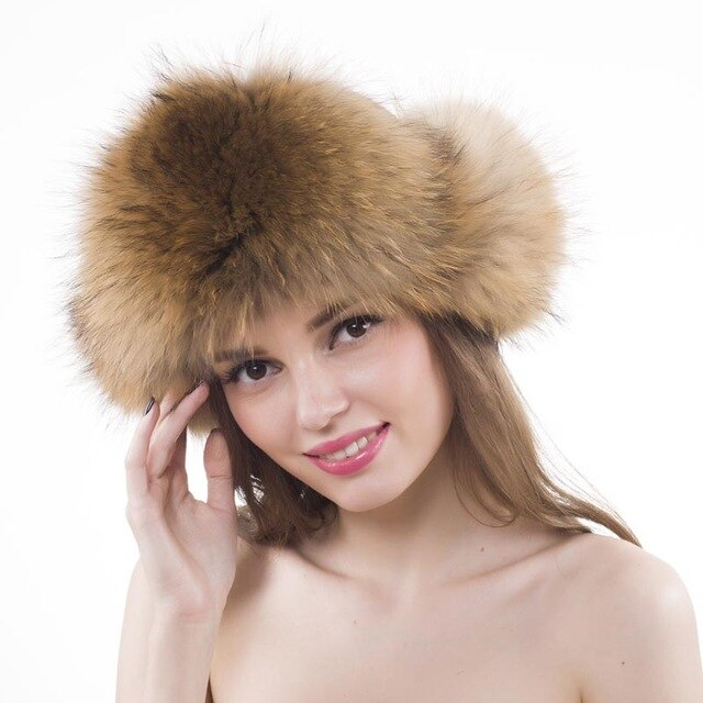 14227536-01-Yechne Women Fur Hat-Home > Accessories > Caps & Hats-Yechne-Faeshon.com