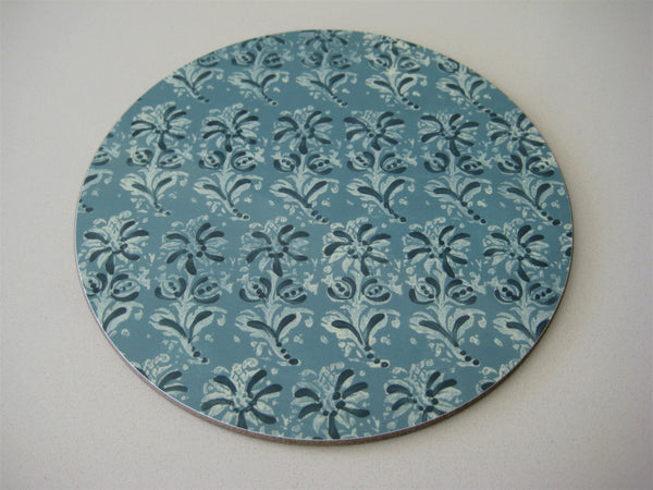 Blue Block Print Tablemat
