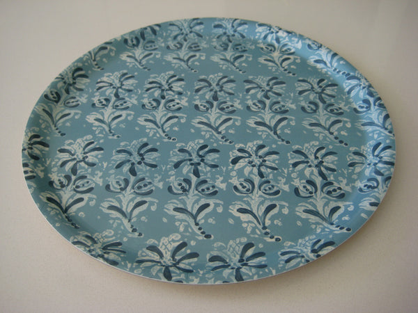 Blue Block Print Tray