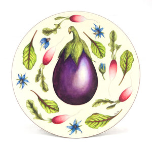 Large 'Aubergine' Serving Mat