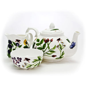 Teapot, Sugar Bowl and Cream Jug