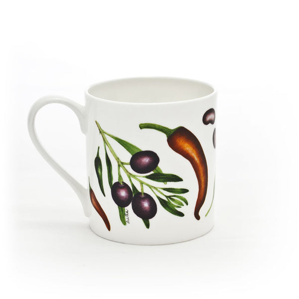 Large 'Olives & Chilli Peppers' Mug