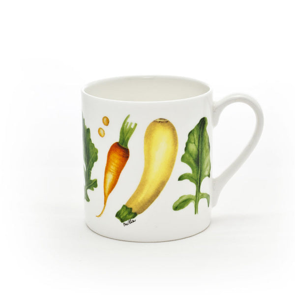 Large 'Courgettes & Carrots' Mug