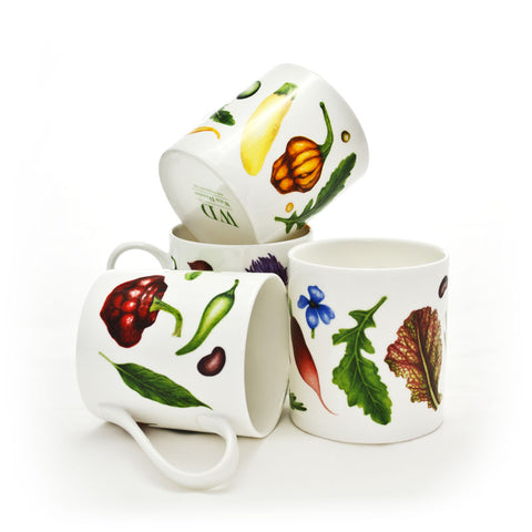 Set of Four Large Mugs