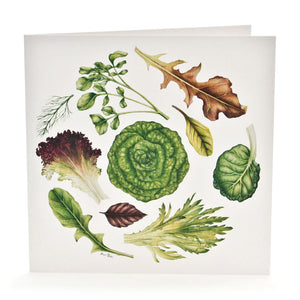 'Lettuce Leaves' Greeting Card
