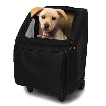 Black Rio Wheeled Dog Carrier