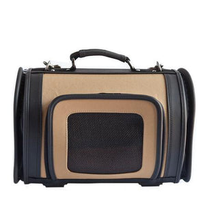 Khaki Kelle Dog Carrier with Black Trim