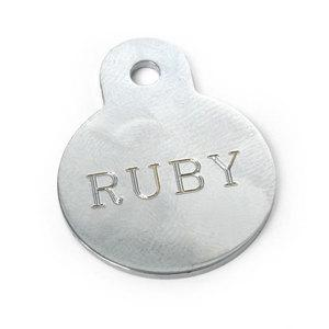 Chrome Circle Engraved Pet Tag