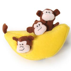Monkey and Banana Burrow Dog Toy