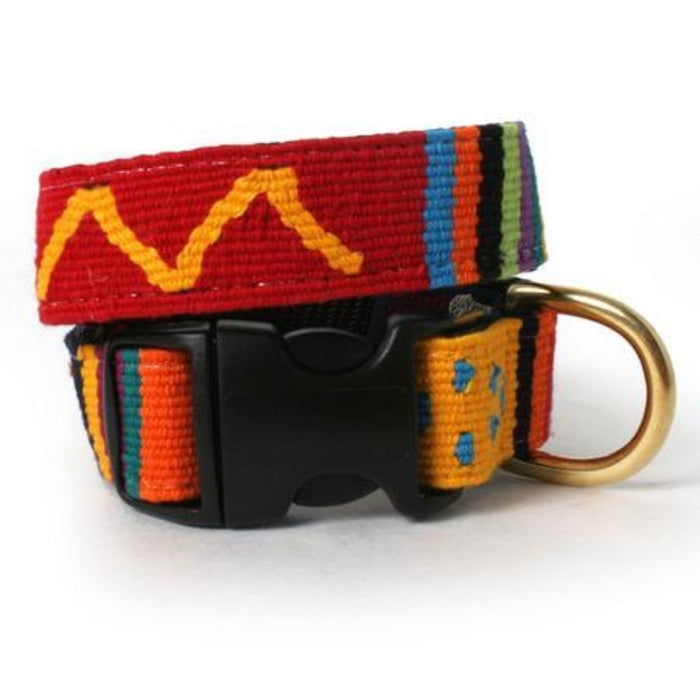 Sun Valley Holiday Woven Dog Collar
