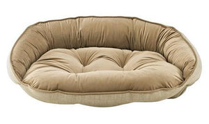 Flax Crescent Dog Bed