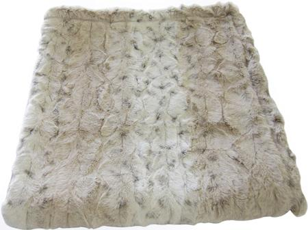 Ivory Leopard Luxury Faux Fur Dog Blanket.