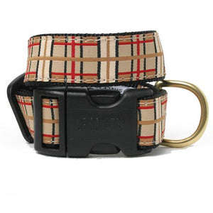 Brown Plaid Dog Collar