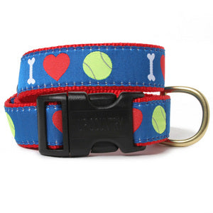 I Love Tennis Balls Dog Collar