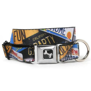 California Plates Dog Collar