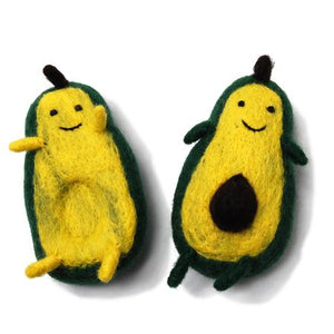 Boiled Wool Avocado Dog Toy