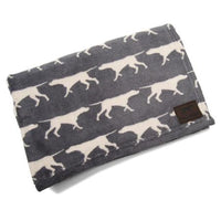 Dog Print Fleece Dog Blanket