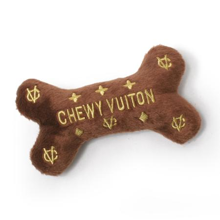 Chewy Vuitton Bone Dog Toy