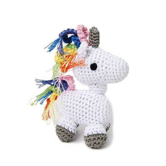 Crocheted Unicorn Dog Toy