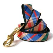 Madras Plaid Dog Leash