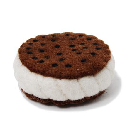 Wool Ice Cream Sandwich Dog Toy