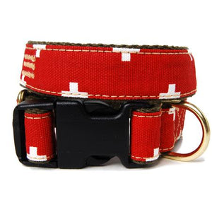 White Crosses Dog Collar