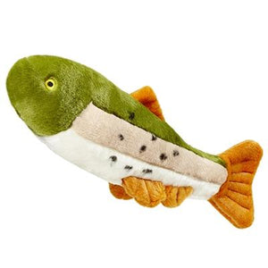 Plush Rainbow Trout Dog Toy