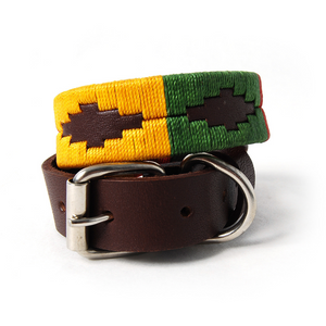 Woodstock Woven Leather Dog Collar