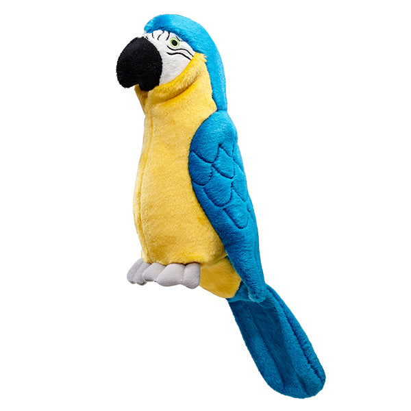 Plush Parrot Tough Dog Toy