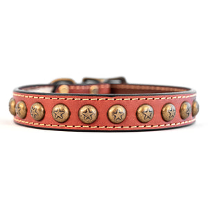 Heirloom Star Leather Dog Collar