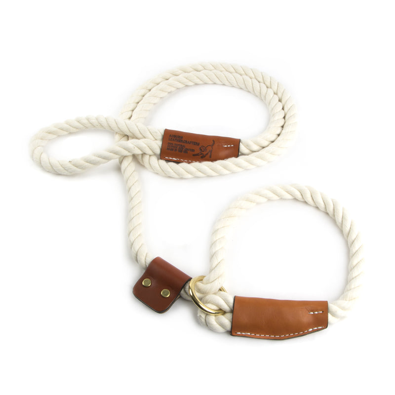 Natural Cotton Rope Slip Dog Leash
