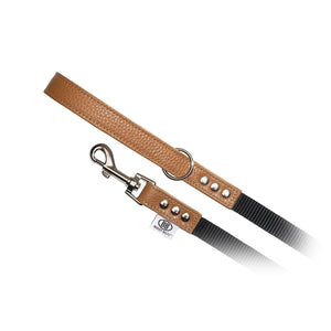 Premium Buddy Belt Nylon and Pebbled Leather Dog Leash