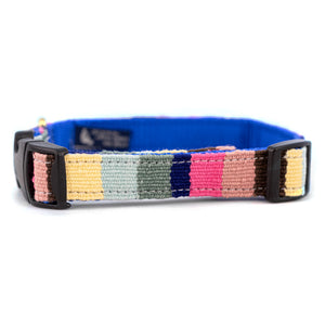 At The Beach Striped Woven Dog Collar