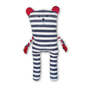 Giant Striped Bear Plush Dog Toy