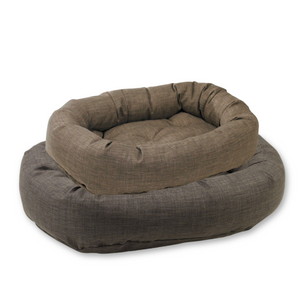 Microlinen Donut Dog Bed
