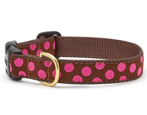 Pink Dots on Brown Dog Collar