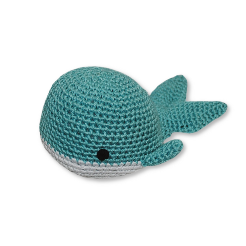 Knit Whale Dog Toy