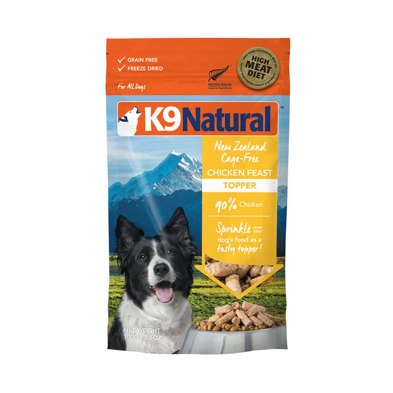 K9 Natural Chicken Feast Freeze Dried Topper Dog Food - Muttropolis